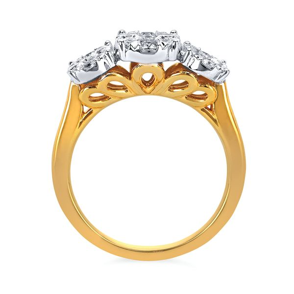 Rings - 14k White And Yellow Gold Ring - image #2