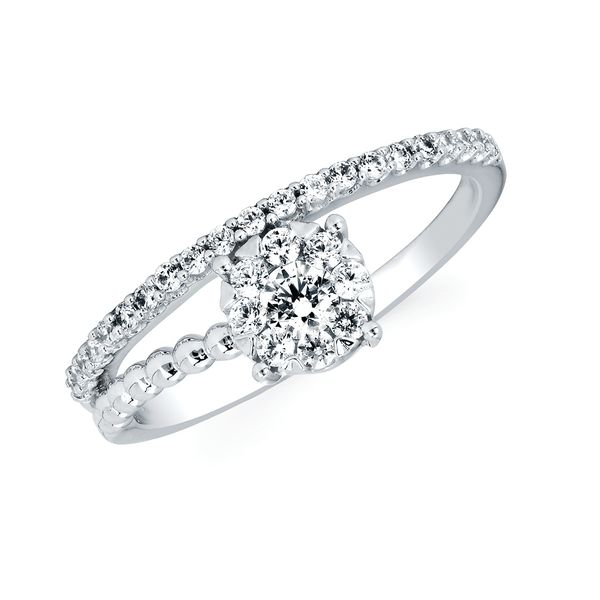 Rings - 14k White Gold Diamond Fashion Ring