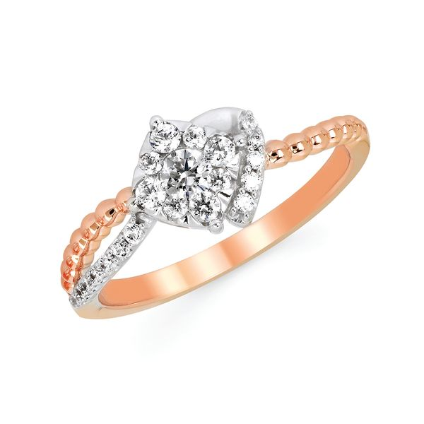 Rings - 14k White And Rose Gold Ring