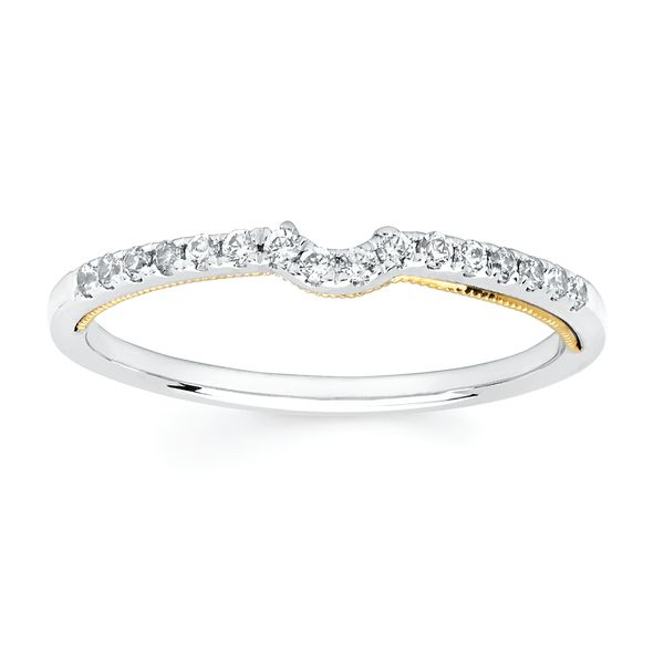 Bridal Sets - 14k White And Yellow Gold Engagement Set - image #3