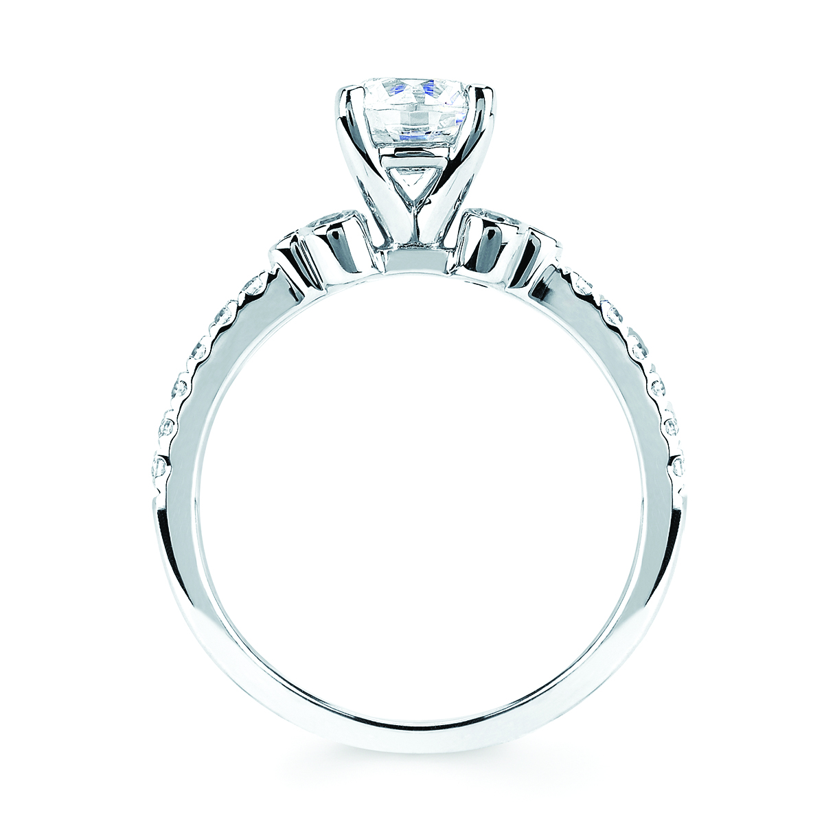 Bridal - 14k White Gold Engagement Set - image 2