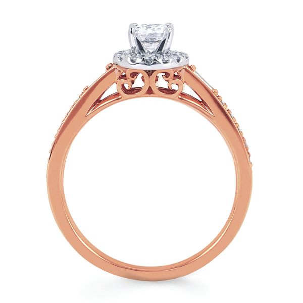 Bridal Sets - 14k White And Rose Gold Engagement Set - image 2