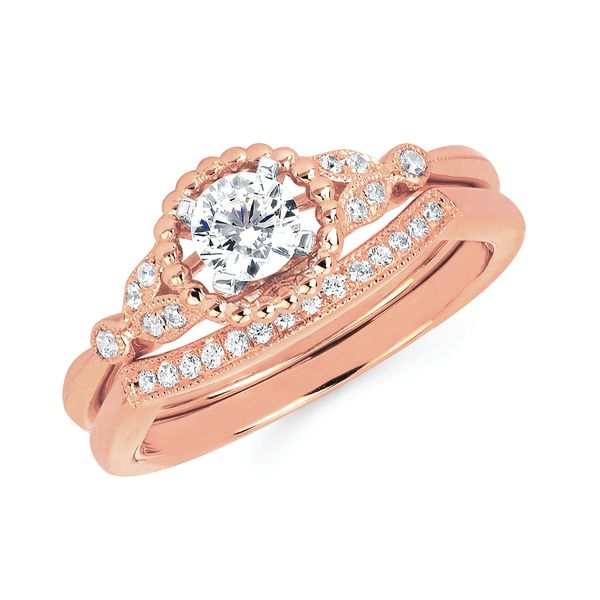 Bridal - 14k Rose Gold Engagement Set