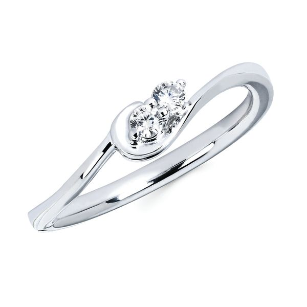 10K White Gold Ring by 2Us Diamond Jewelry