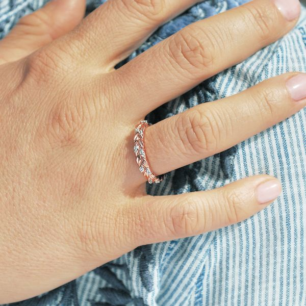 Wrap Rings - 14k Rose Gold Ring - image 2