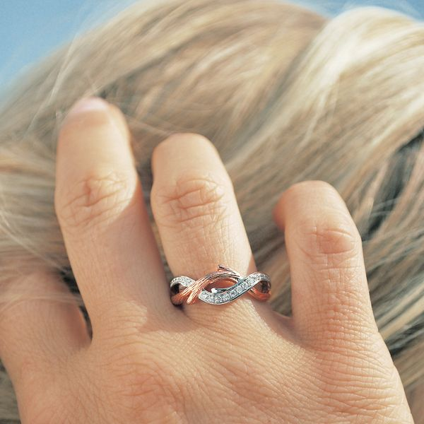Wrap Rings - 14k White And Rose Gold Ring - image #2