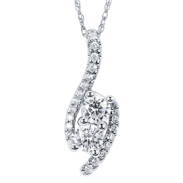 14K White Gold Pendant by 2Us Diamond Jewelry
