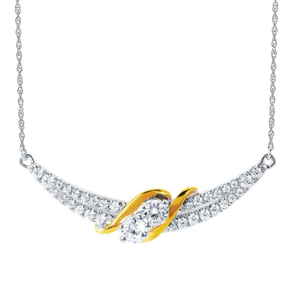 14K Yellow & White Gold Pendant by 2Us Diamond Jewelry