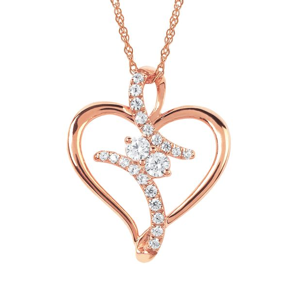 14K Rose Gold Pendant by 2Us Diamond Jewelry