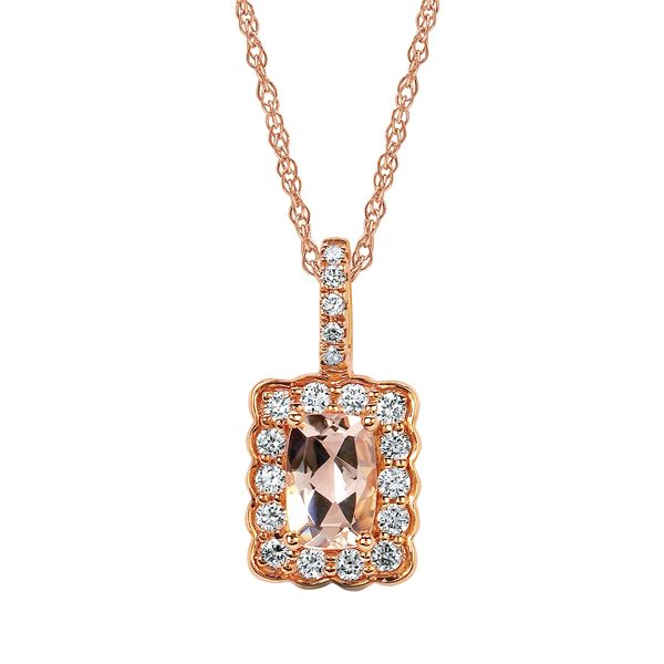 Pendants - 14k Rose Gold Gemstone Pendant