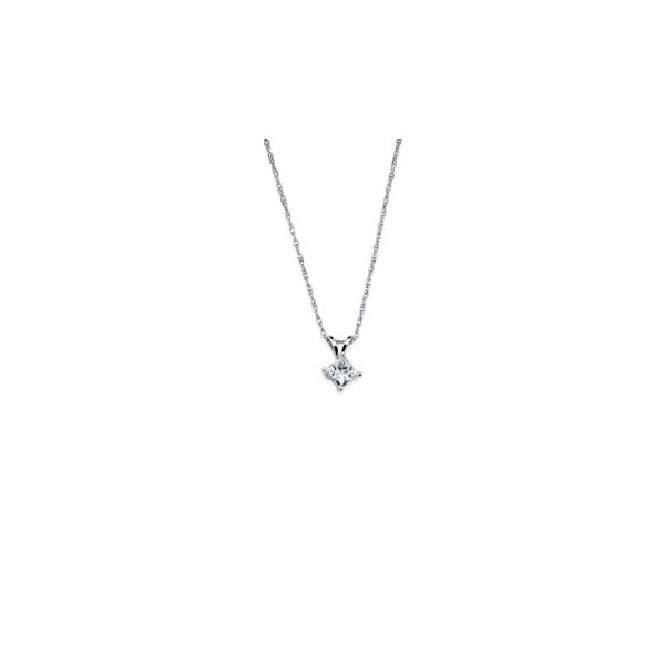 14K White Gold Pendant by Ostbye