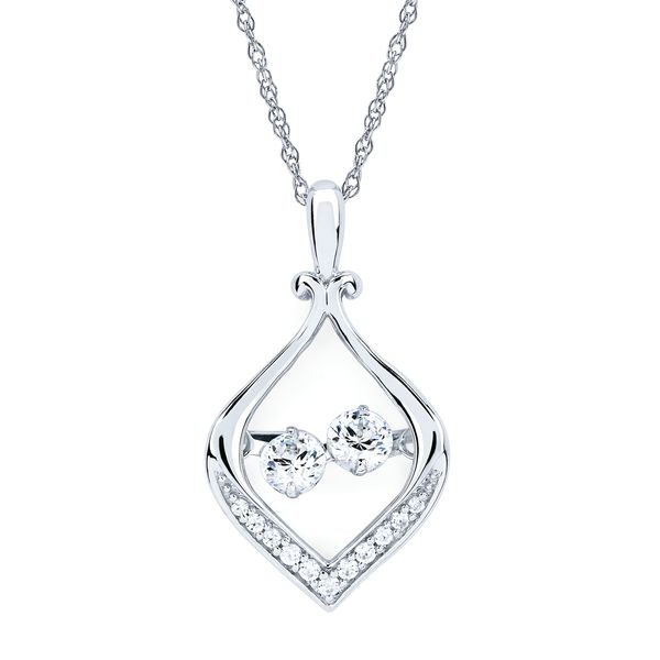 14k White Gold Pendant by Shimmering Diamonds