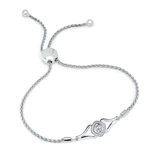 Sterling Silver Bracelet by Shimmering Diamonds
