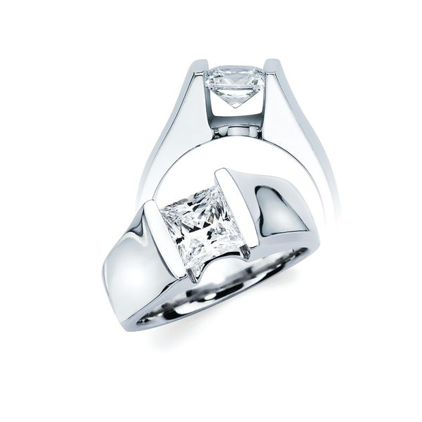 14K White Gold Engagement Ring by Ostbye