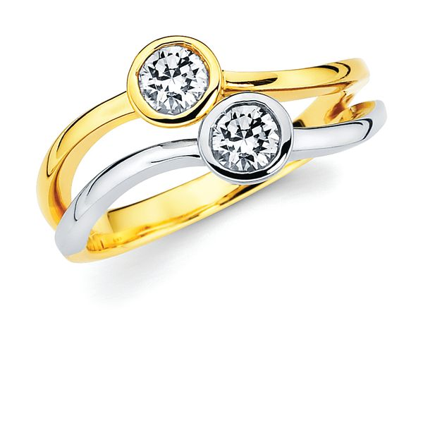 14K Yellow & White Gold Ring by 2Us Diamond Jewelry