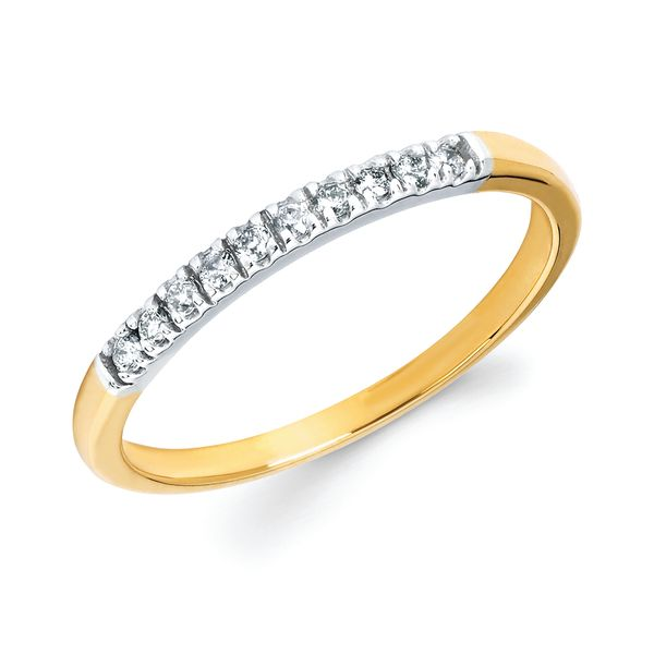 14k White Gold Anniversary Band - 1/10 Ctw. Shared Prong Diamond Anniversary Band in 14K Gold
