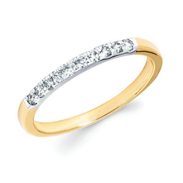 14k White Gold Anniversary Band - 1/5 Ctw. Shared Prong Diamond Anniversary Band in 14K Gold