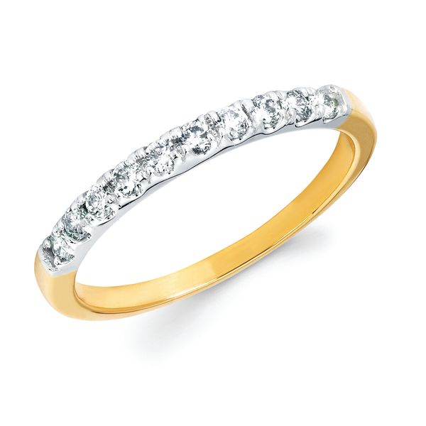14k White Gold Anniversary Band - 1/4 Ctw. Shared Prong Diamond Anniversary Band in 14K Gold