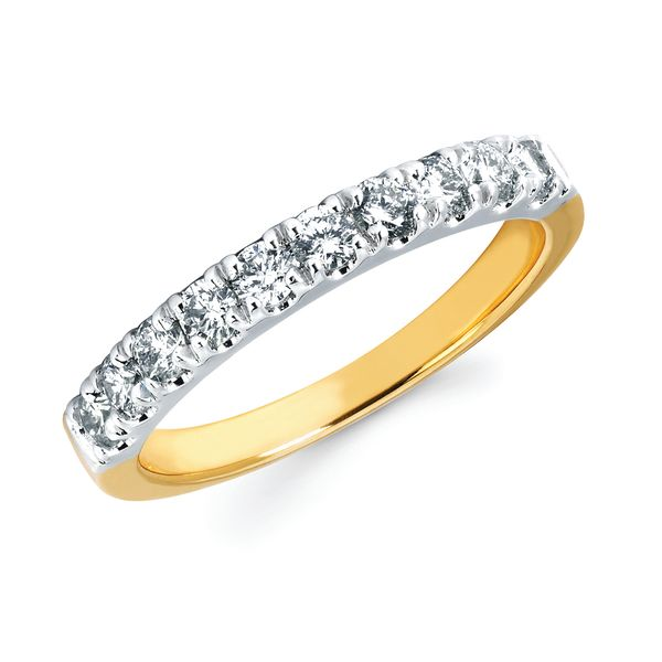 14k White Gold Anniversary Band - 1/2 Ctw. Shared Prong Diamond Anniversary Band in 14K Gold