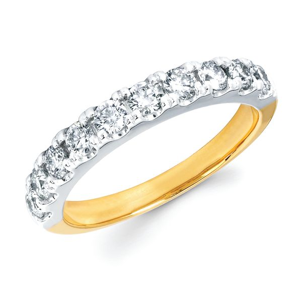 14k White Gold Anniversary Band - 3/4 Ctw. Shared Prong Diamond Anniversary Band in 14K Gold