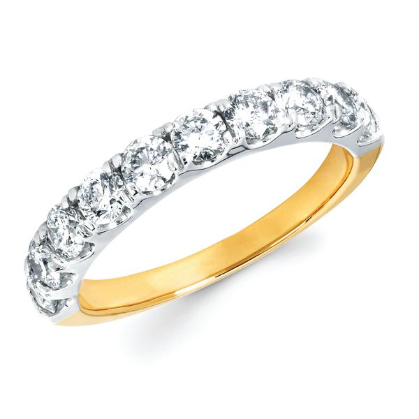 14k White Gold Anniversary Band - 1 Ctw. Shared Prong Diamond Anniversary Band in 14K Gold