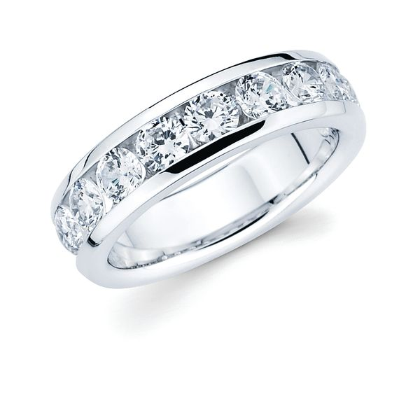 14k Yellow Gold Anniversary Band - 1-1/2 Ctw. Channel Set 10 Stone Diamond Anniversary Band in 14K Gold