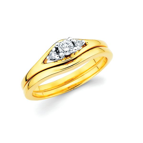 14k Yellow & White Gold Bridal Set by Celebration