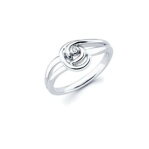 Sterling Silver Ring - Diva Diamonds® Knot Ring in Sterling Silver with .01 Ct. Diamond