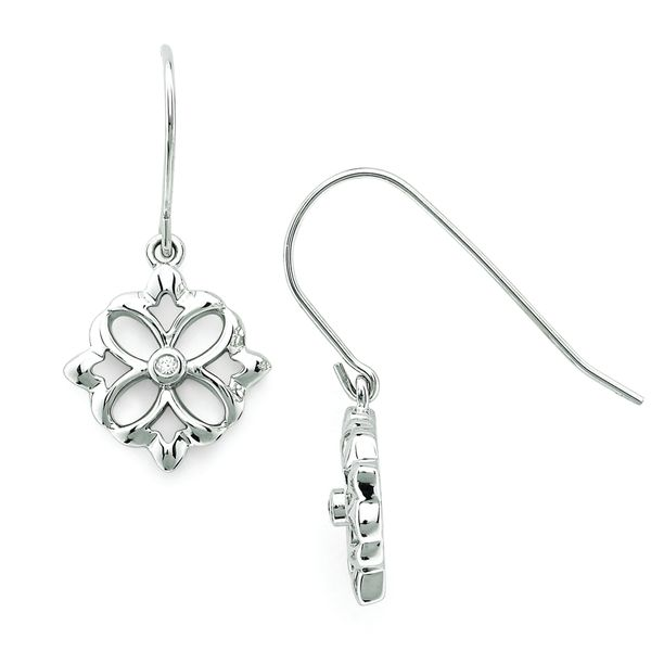 Sterling Silver Diamond Earrings by Diva Diamonds
