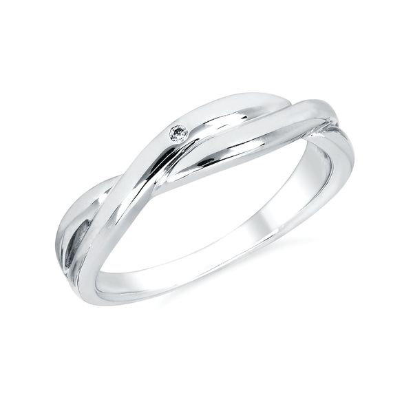 Sterling Silver Ring - Diva Diamonds® Twisted Ring in Sterling Silver with .01 Ct. Diamond