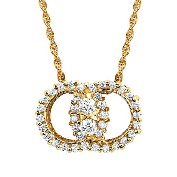 14K Yellow Gold Pendant by Diamond Marriage Symbol