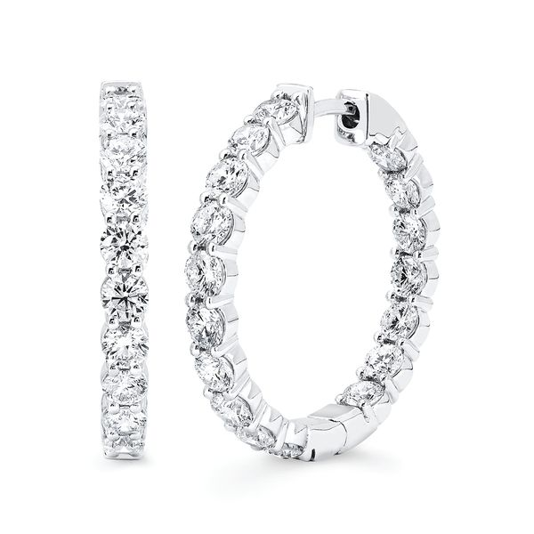 14k White Gold Diamond Earrings by Ostbye