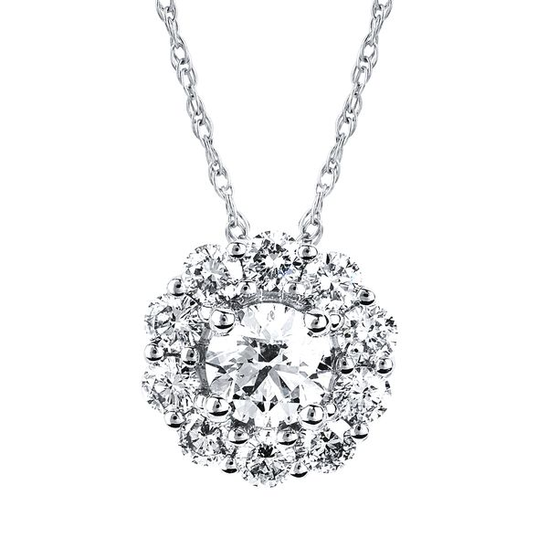 14k White Gold Diamond Pendant by Ostbye