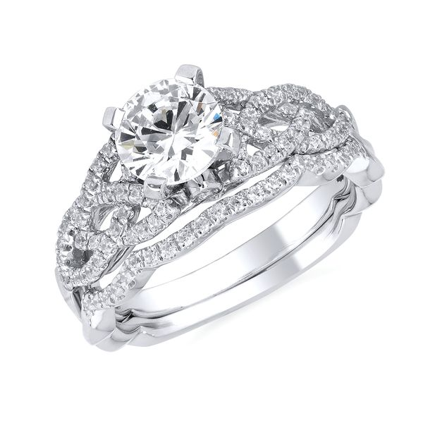 14k White Gold Engagement Set by Forever Elegant