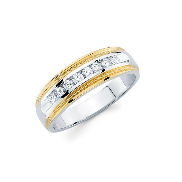14k White & Yellow Gold Men