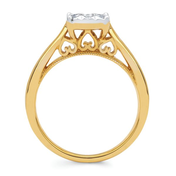 Engagement Rings - 14k Yellow Gold Engagement Set - image #2