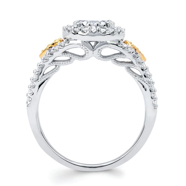 Sets - 14k White And Yellow Gold Engagement Set - image #2
