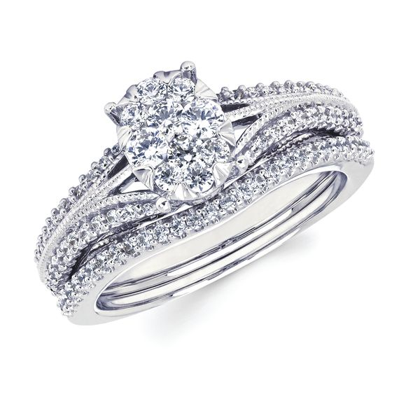14k White Gold Bridal Set by Celebration