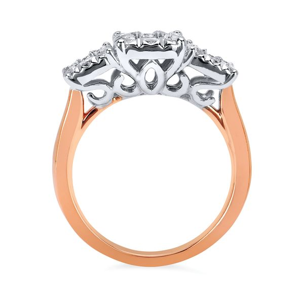 Engagement Rings  - 14k Rose & White Gold Engagement Ring - image #2