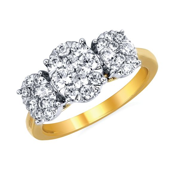 14k Yellow & White Gold Engagement Ring by Celebration