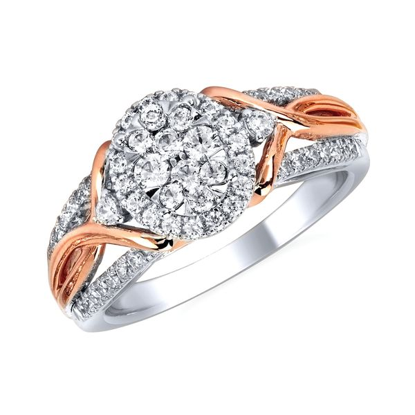 14k White & Rose Gold Engagement Ring by Celebration