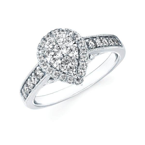 14k White Gold Engagement Ring by Celebration