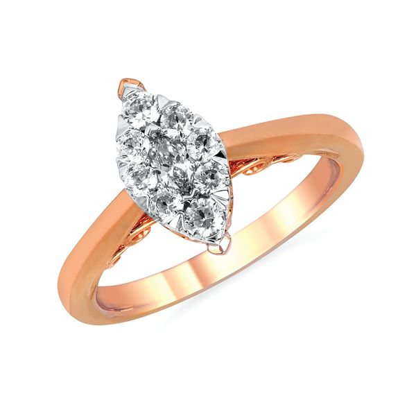 14k Rose Gold Engagement Ring by Celebration