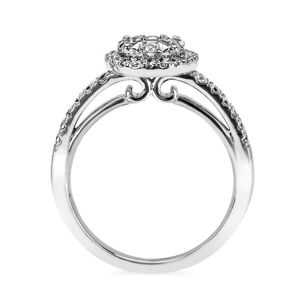 Engagement Rings - 14k White Gold Engagement Set - image #2