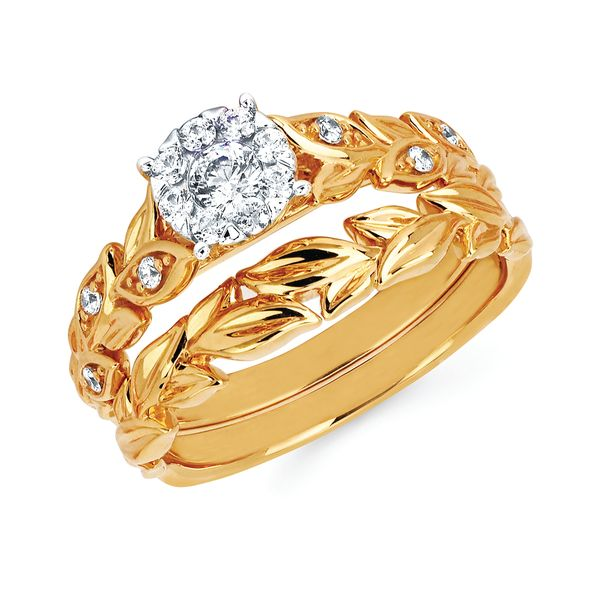 14k Yellow Gold Engagement Set - i Cherish™ 1/3 ctw. Diamond Ring in 14K Gold i Cherish™ Wedding Band in 14K Gold Items also available to purchase separately