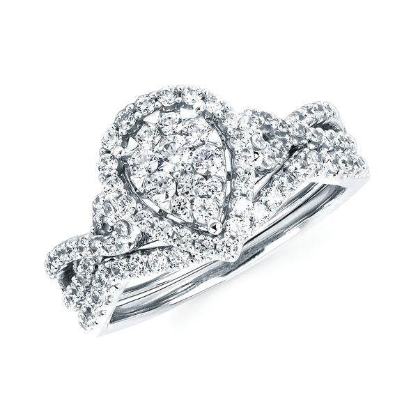14k White Gold Engagement Set - i Cherish™ 5/8 ctw. Diamond Ring in 14K Gold i Cherish™ .14 Ctw. Diamond Wedding Band in 14K Gold Items also available to purchase separately