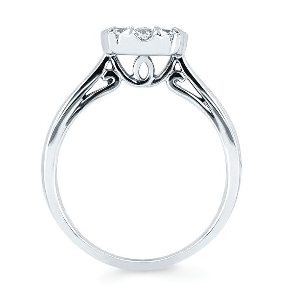 Wedding Bands - 14k White Gold Ring - image #2