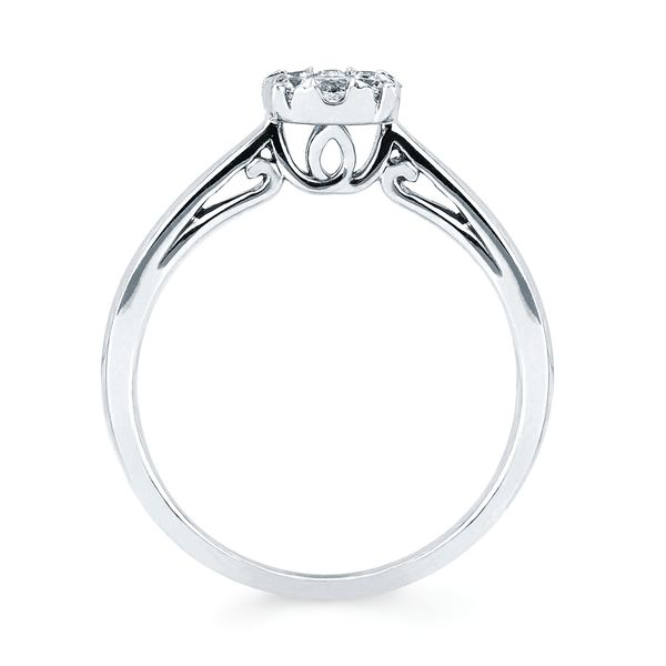 Wedding Bands - 14k White Gold Ring - image #3