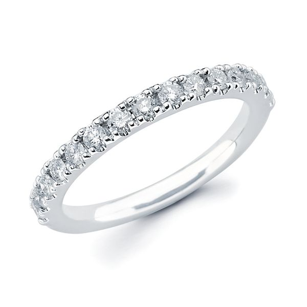 14k White Gold Anniversary Band - 1/4 Ctw. Diamond Anniversary Band in 14K Gold