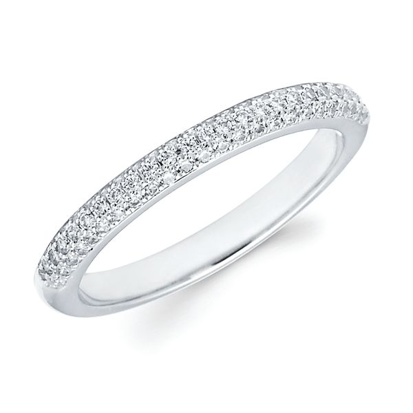 14K White Gold Ring - 1/4 Ctw. Channel Set Diamond Anniversary Band in 14K Gold